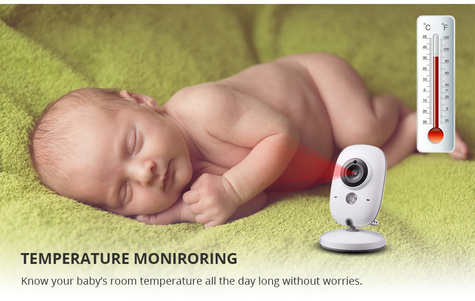Image 4 - 3.2 Inch Baby Monitor Wireless Video Color Baby Nanny Security Camera Baba Electronic Night Vision Temperature Monitoring VB603-in Baby Monitors from Security & Protection
