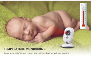 Image 4 - 3.2 Inch Baby Monitor Wireless Video Color Baby Nanny Security Camera Baba Electronic Night Vision Temperature Monitoring VB603