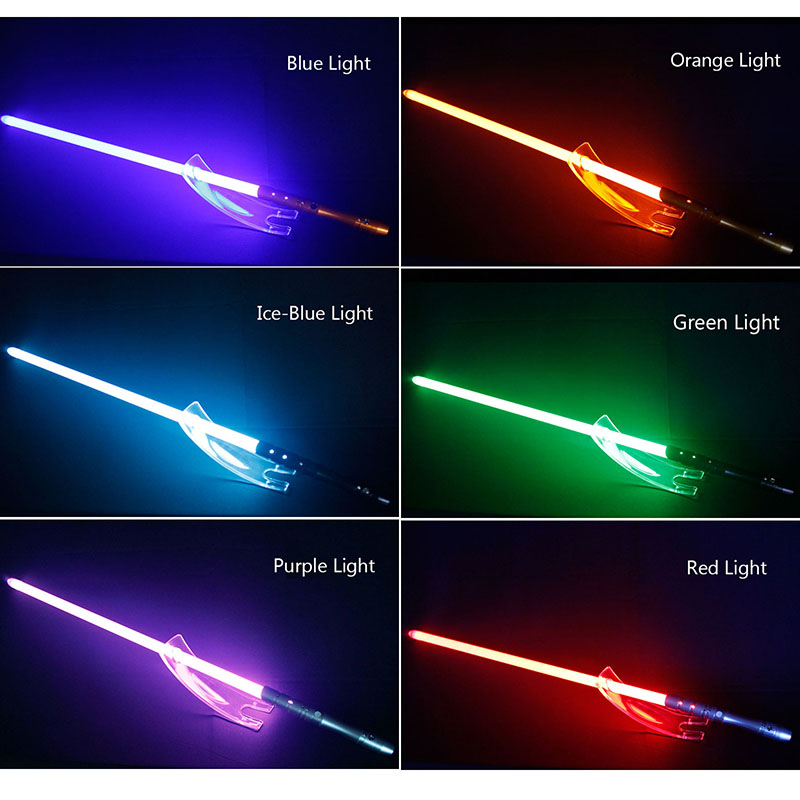 Cosplay Jedi Lightsaber Plus LED Light Jedi Sith Luke Force Light Saber Sound Luminous Toys Metal Handle Sword Kids Toys Gift - 6