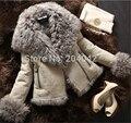 Winter Luxury Warm Short Genuine Sheepskin Natural Lamb Fur Coat Suede Jacket Thick Fur The Coat For Women Plus Size 131011-6c