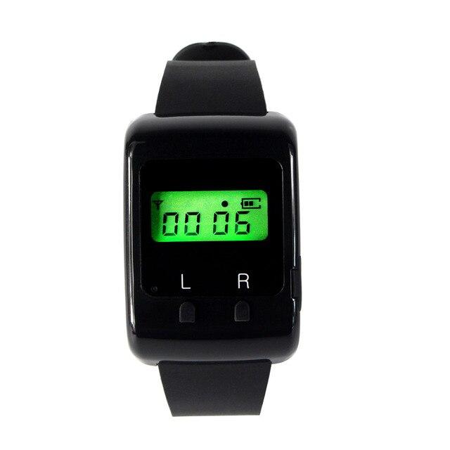 LED Наручные Часы-Приемник для Беспроводной Ресторан Пейджер Вызова Пейджинговой Системы Баре Отеля с Кодом Обучения F3273A