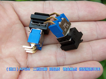 Second-hand three-pin gold plated high-end miniature ship type pull switch