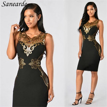 2017 Women Club Dresses Black Red Hollow Out Embroidery V neck Elastic Sexy Vestidos Bodycon Party Night Club Dress Femme Robe