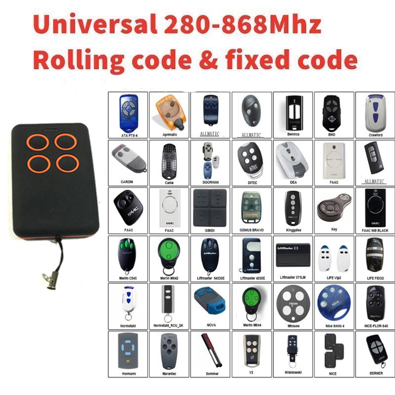 Multy frequency 280-868MHz  remote clone universal rolling code transmitter remote Multy frequency 280-868MHz  remote clone universal rolling code transmitter remote