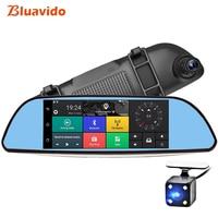 Bluavido 7 inch Rearview mirror Car DVR 3G Android GPS Navigation FHD 1080P Dual Dash Camera WiFi Monitoring Auto video recorder