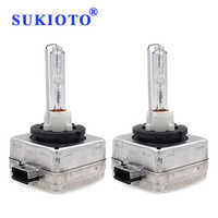 SUKIOTO Original 2PCS Xenon 55W D1S 6000K 5000K 4300K d1s 8000k ceramic d1s 35w xenon hid kit car headlight spare xenon lights