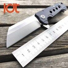 LDT Rad Tactique Couteau Pliant D2 Lame Titanium Poignée Roulement À Billes Outils de Camping En Plein Air de Survie de Poche Couteaux de Chasse OEM