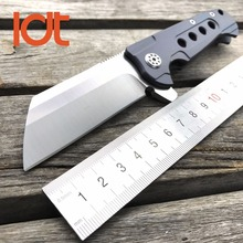 LDT Rad Tactical Folding Knife D2 Blade Titanium Handle Ball Bearing Camping Tools Outdoor Pocket Survival Hunting Knives OEM