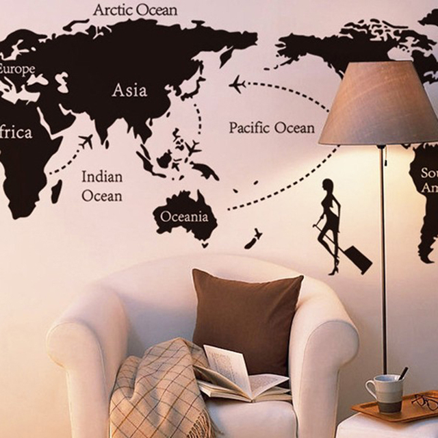 ... Map Of The World Wall Sticker Part 93