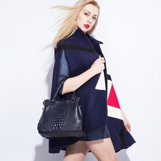 REALER luxury handbags women genuine leather crossbody messenger bags female tote high quality crocodile print ladies top-handle 1