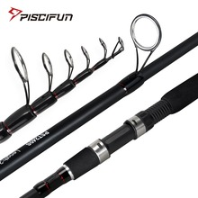 Piscifun TRAVELLER Carbon Spinning Rod Portable Telescopic Fishing Rod 2.7M 3M Fishing Tackle