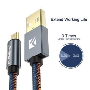 Image 2 - FLOVEME 5 teile/los Original Micro USB Kabel 2.1A Schnelle Ladegerät Daten Sync 30cm 1m 2m Telefon Kabel für Samsung Xiaomi LG Android Cabo