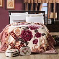 Super soft blanket Chinese style Thickened warm blanket The feeling of wool