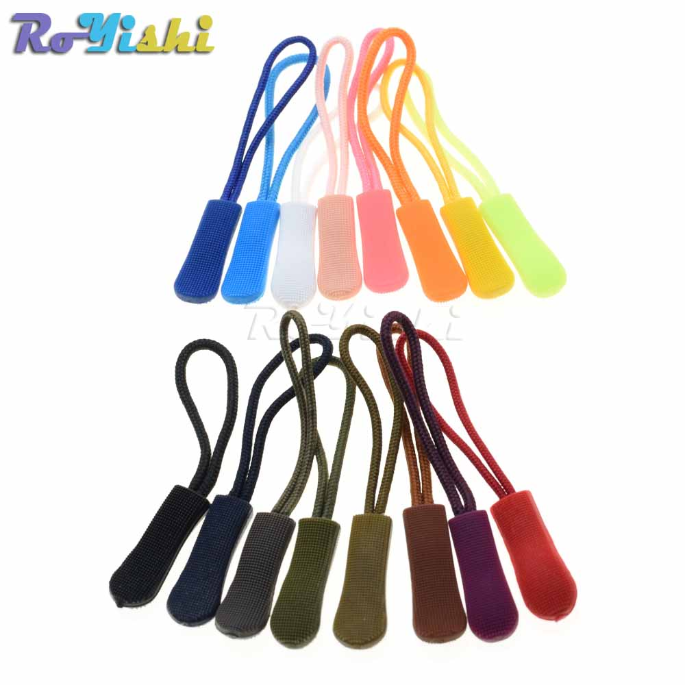 10pcs//Pack RED U Shape Cord Zipper Pull Strap Lariat for Apparel Accessories