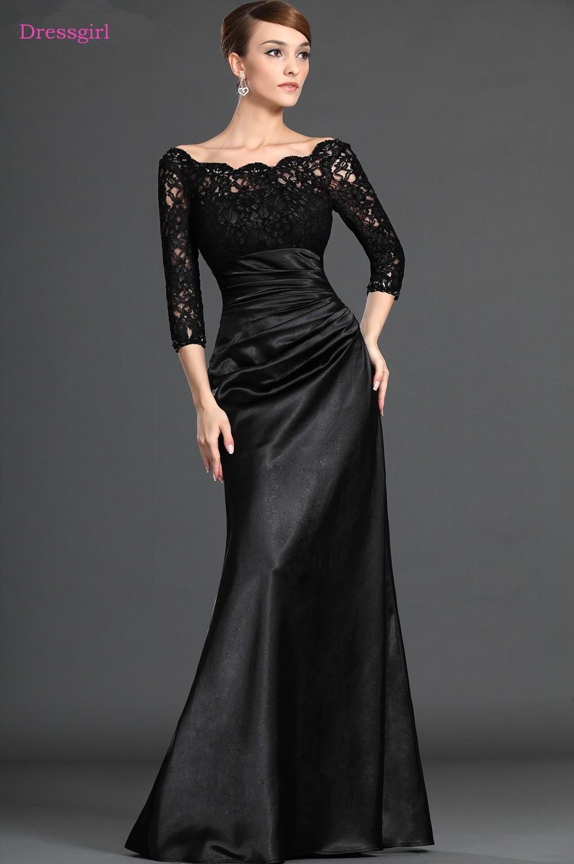 black 2019 mother of the bride dresses mermaid 34 sleeves
