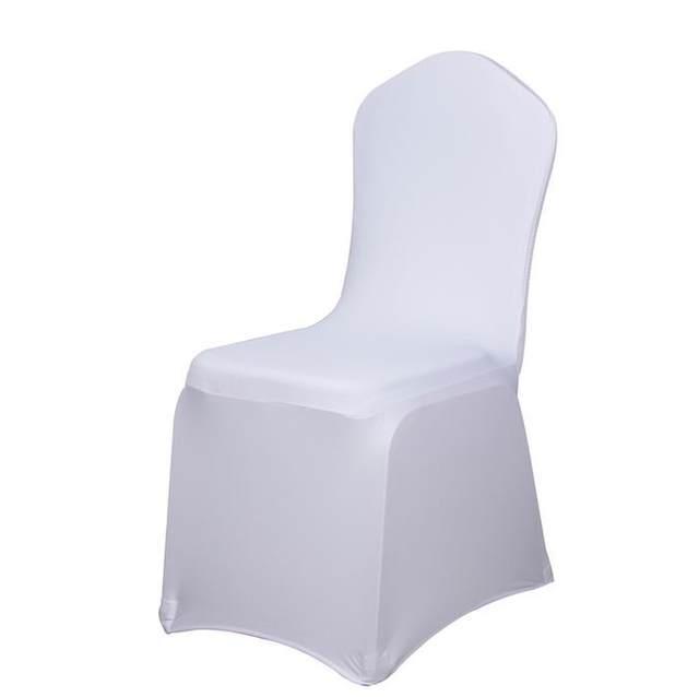 online shop 50pcs wholesale universal white chair cover spandex