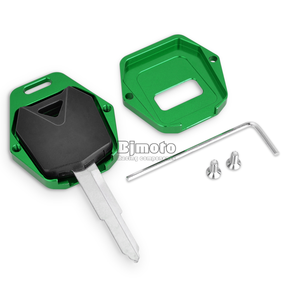 BJMOTO Motorcycle Accessories For Kawasaki ZXR 400 ZRX 400 ZZR 400 600 ZX6R ZX7R ZX9R ZX 6R 7R 9R Moto CNC Key Cover Case Shell