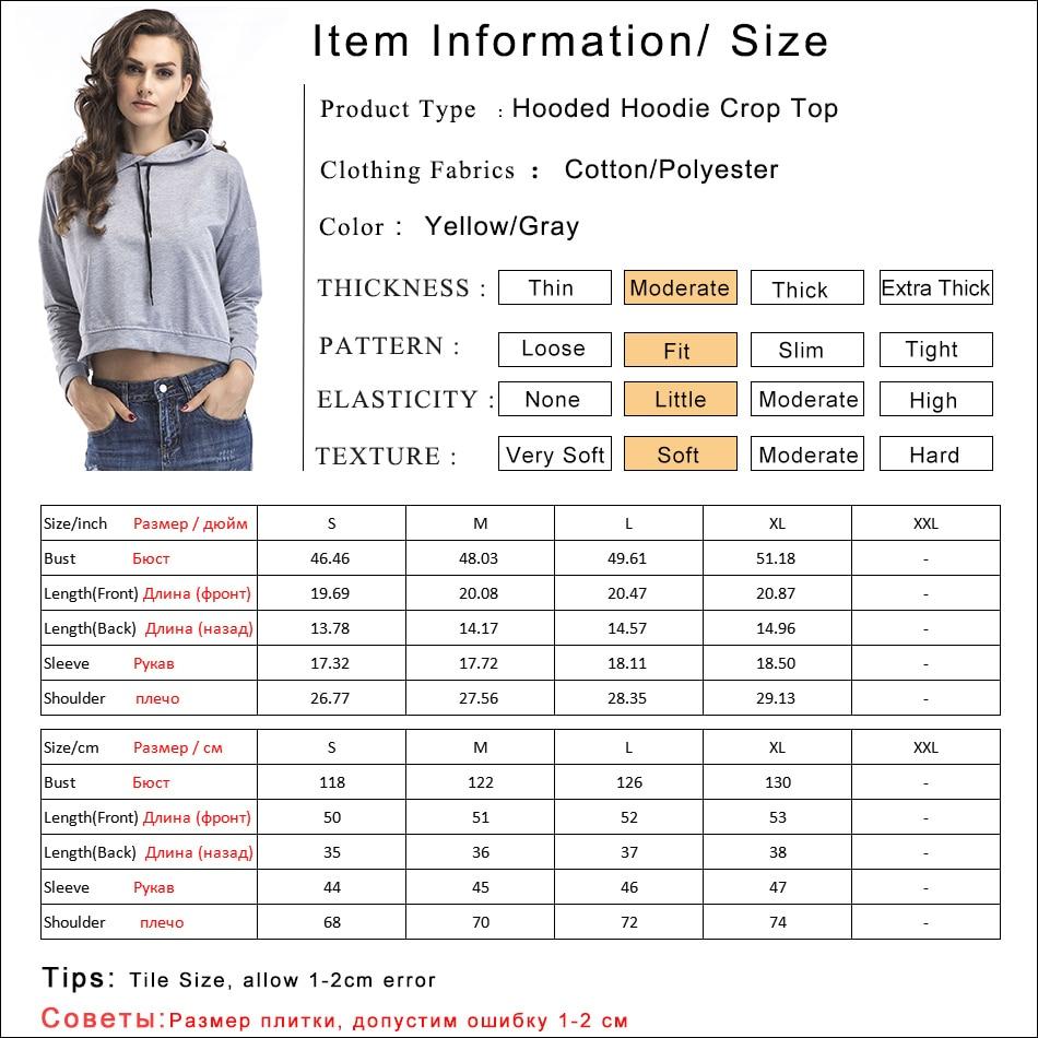 Gladiolus Spring Hooded Hoodies Women Long Sleeve Sexy Crop Top 2019 Short Slim Sweatshirt Women Loose Pullover Tracksuit Tops (6)