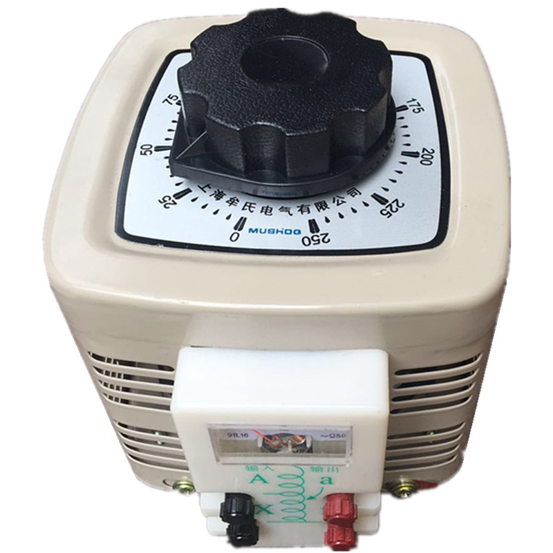 купить Full copper TDGC2-0.5KVA voltage regulator 500W input 220V output 0-250V single-phase adjustable transformer по цене 1986.89 рублей