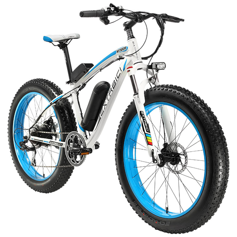 Cyrusher XF660 4.0 Fat Tire Vélo Électrique 500 Watt 48 v 10.4ah 7 Vitesses Mécanique Frein À Disque avec Réglable Guidon vélo Lumière