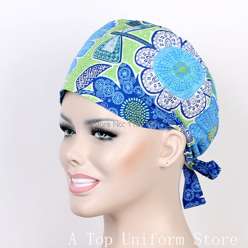 ₪2017 Lab Coat Hospital Surgical Cap Medical Scrub Caps for Women ...
