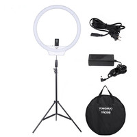 YONGNUO YN308 LED Ring Light Video Light Wireless Remote Photography Lighting With Light Stand And Power