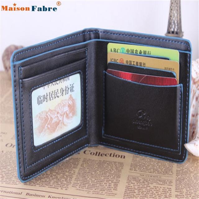 U New Men's Leather Bifold Credit/ID Cards Holder Slim Wallet  FEB21