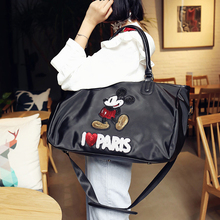 2019 new Korean version of the style portable handbag large capacity waterproof shoulder bag black Messenger bag