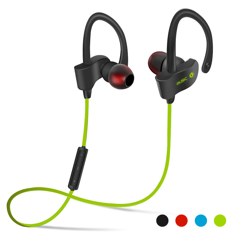 56S Wireless Bluetooth Earphone Sports Sweat proof Stereo Earbuds Headset In-Ear Earphones with Mic for iPhone & Smartphone sports bluetooth earphone 4 1 stereo earbuds wireless headset bass earphones with mic in ear for iphone 7 samsung xiaomi
