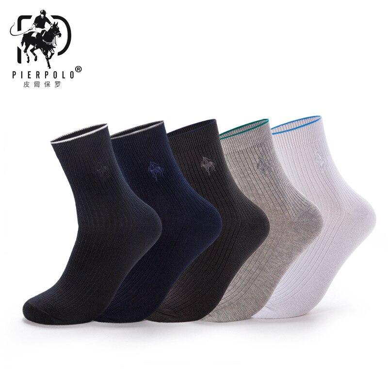 PIERPOLO Socks New Arrival Brand Socks 5 Pairs/lot Classic Business Men's Dress Socks Winter Warm Cotton Socks
