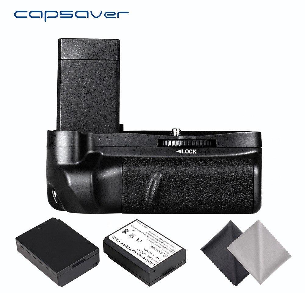 Poignée de batterie verticale capsaver avec 2 piles LP-E10 pièces Canon 1100D 1200D 1300D EOS rebelle T5 T6 T3 Kiss X50