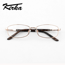 Kirka Women Glasses Frame Optical Myopia Metal Eyeglass Frames For oculos de grau Female Eyeglasses Degree