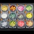 La Escala de pescados de Escamas de Colores Iridiscentes Shifting Escamas Lentejuelas Brillo de Uñas Decoración Del Arte Del Clavo de Manicura DIY