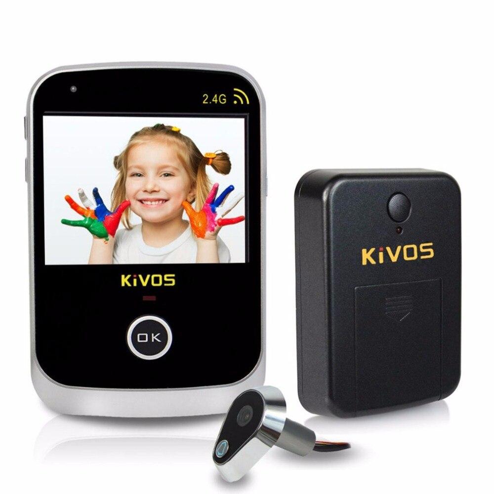 Kivos 3.5 Ojo de puerta digital mirilla Visor de puerta video sin hilos Timbres de puerta Cámara Monitores para el hogar apartamento envío libre