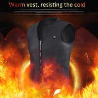 Neue Outdoor USB Heizung Weste Infrarot Elektrische Beheizte Jacke Frauen Winter Kleidung Ärmellose Weste Wandern Klettern Jagd Camping