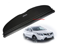 Fit For nissan qashqai J11 2014 2016 cargo blind cover parcel shelf shade trunk liner screen retractable boot cover