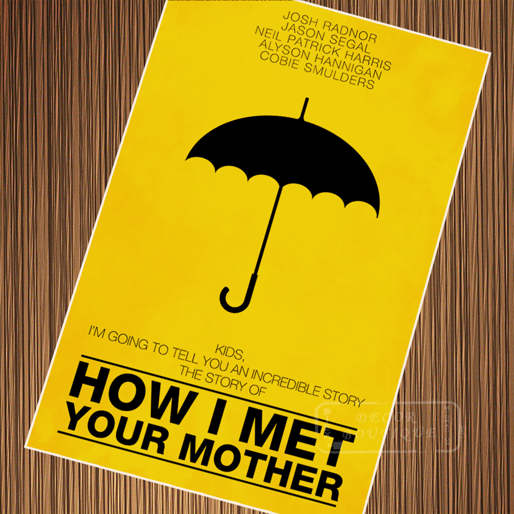 US $3 14 21% OFF|Minimalism How I Met Your Mother TV Series Classic Vintage  Poster Canvas Painting DIY Wall Paper Posters Home Decor Gift-in Wall
