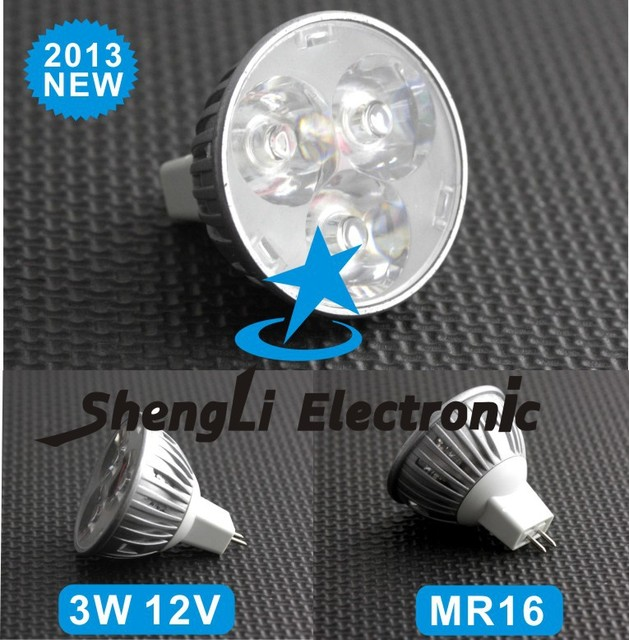 3W 12V MR16 Power LED spot light Warm White&Cool White 2013 new arrival Wholesale 10pcs/lot High+Free Shipping