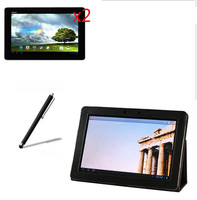 4in1 Luxury Magnetic Folio Stand Leather Case Cover 2x Films 1x Stylus For Asus MeMO Pad