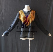 KAKA-L1541,Men's Dance Wear,Man 's Latin Shirt,Salsa Dress Tango Samba Rumba Chacha Shirt,Man Shirt