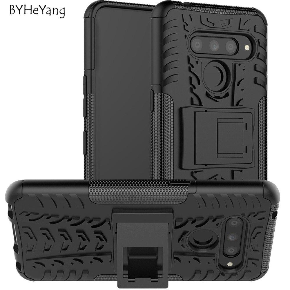 cb3a2d8e413 For LG V50 ThinQ 5G Cover For Fundas LG V50 Case Heavy Rugged TPU+PC Armor  Shockproof Kick Stand Cover for LG V50 ThinQ 5G Case