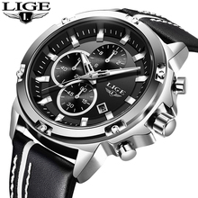 LIGE Watch Men Quartz Top Brand Luxury Analog Military Male Watches Men Sports Watch Waterproof Chronograph Relogio Masculino цена и фото