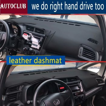 For Honda Fit Jazz 2014-now   Leather Dashmat Dashboard Cover Pad Dash Mat SunShade Carpet Cover 2015 2016 2017 2018