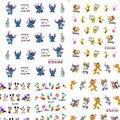 1 hojas Nueva Historieta Linda Decoraciones Del Arte Del Clavo de Transferencia de Agua Stickers Decals Wraps Manicura Polaco Niños Estilos ND106