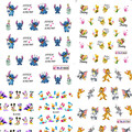 1sheets New Cute Cartoon Nail Art Decorations of Water Transfer Stickers Decals Wraps Manicure Polish Children Styles ND106