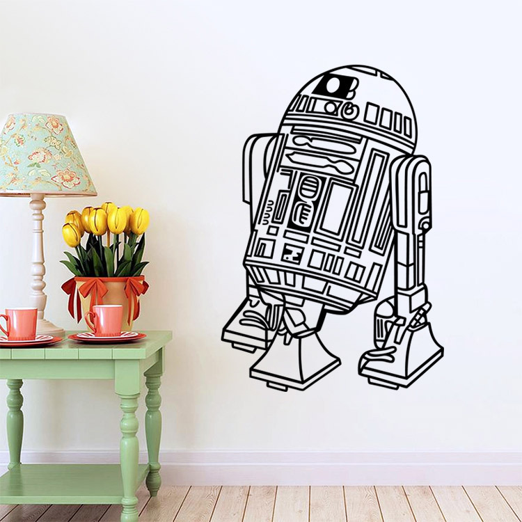 Aliexpress.com : Buy Art Design Star Wars robot Wall Sticker Quote ...