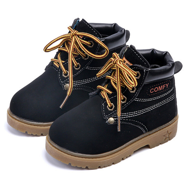 Boots Girl Children Shoes Boys Hot Fashion Martin Boots Winter Autumn Low  Short Boot Kids Baby 8c8ed36dc3c9