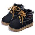 Botas de Niña de Los Niños Zapatos de Los Muchachos Martin Botas de Invierno Otoño Caliente de La Manera Baja de Arranque Corto Cabritos Bebés Zapatos