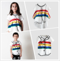 BOBOZONE Red Yellow Blue Striped  t-shirt 2017 new multicolor print tees tops for baby  boys girls kids pre-sale