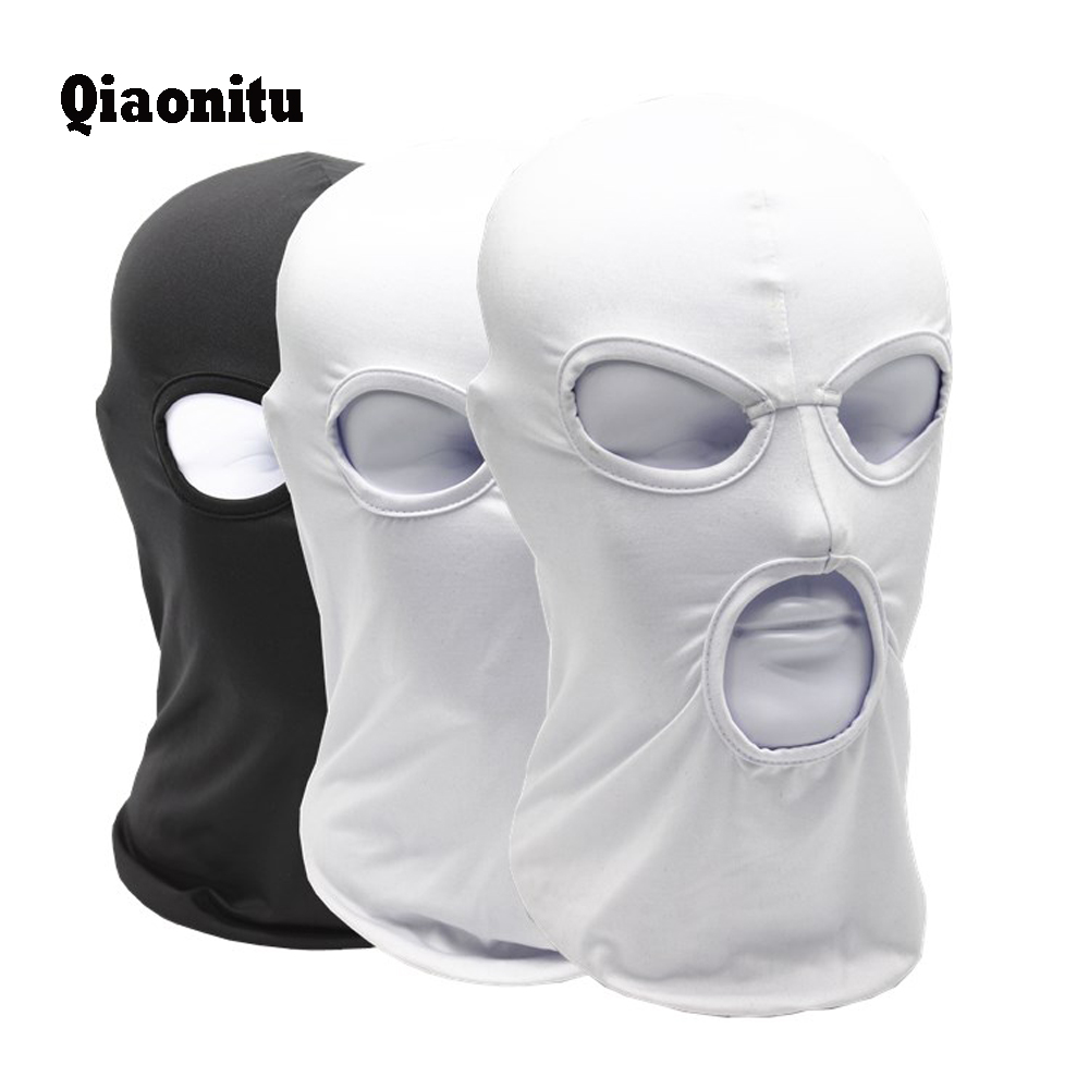 3 Hole New Windproof  Full Face Mask Quick-Drying Combat Breathable Anti UV Motorcycle Wargame Tactical Balaclava hat